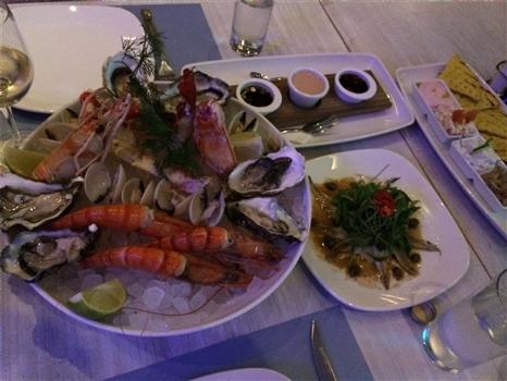 Seafood dinner at Malindi
