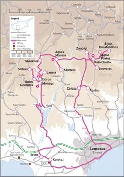 Commandaria route map