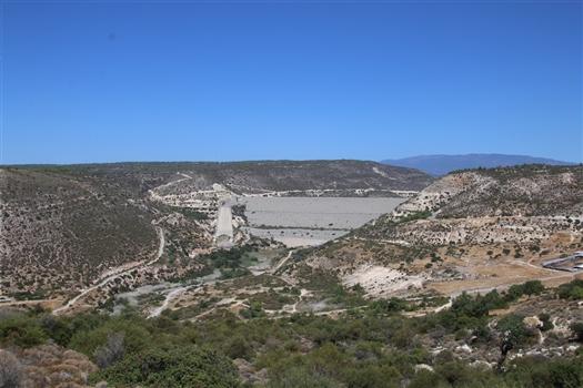 Kouris Dam from Erimi side