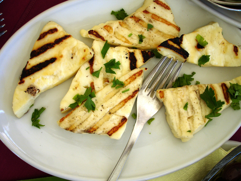 Cyprus dish, grilled Halloumi cheese