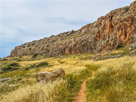 Cape greco path cliffs