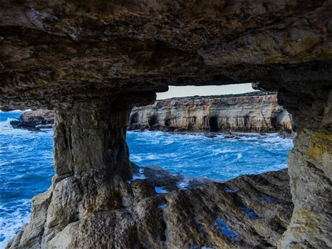 Sea caves - double see through