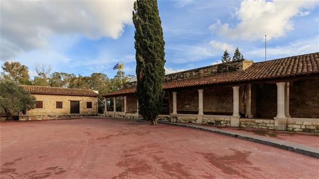 St. Nicholas Cat Monastery - Courtyard and church