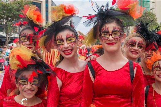 Limassol Carnival - Red girls
