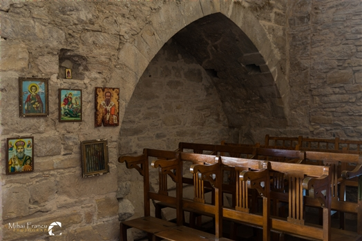 The inside of the Timou Monastry
