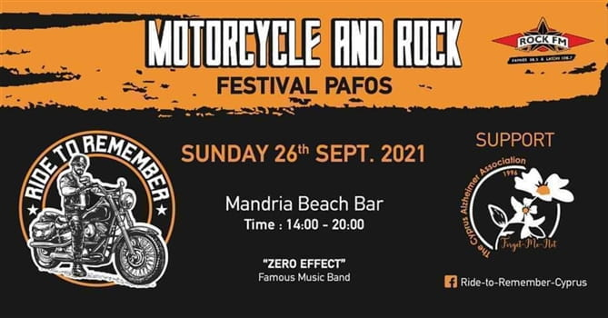 Motorcycle and Rock - Ride to Remember Festival - Pafos - 26 Sep