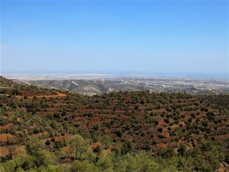View from Stavrovouni towards Larnaca