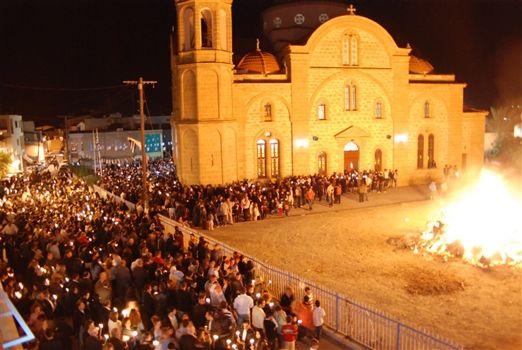 Judas Burning at Church