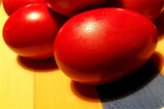Red Eggs Easter