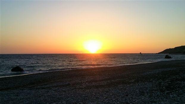 Sunset at Aphrodites rock