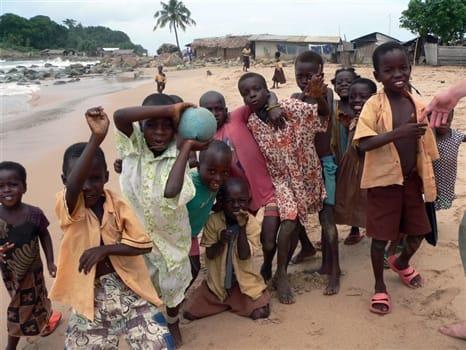 Kids in nearby village