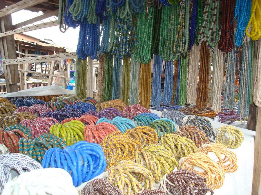 Beads market in Somanya
