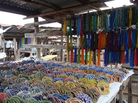 The beads at Somanya market