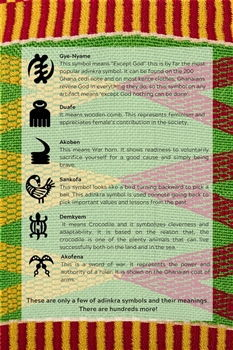Adinkra symbols meanings kente