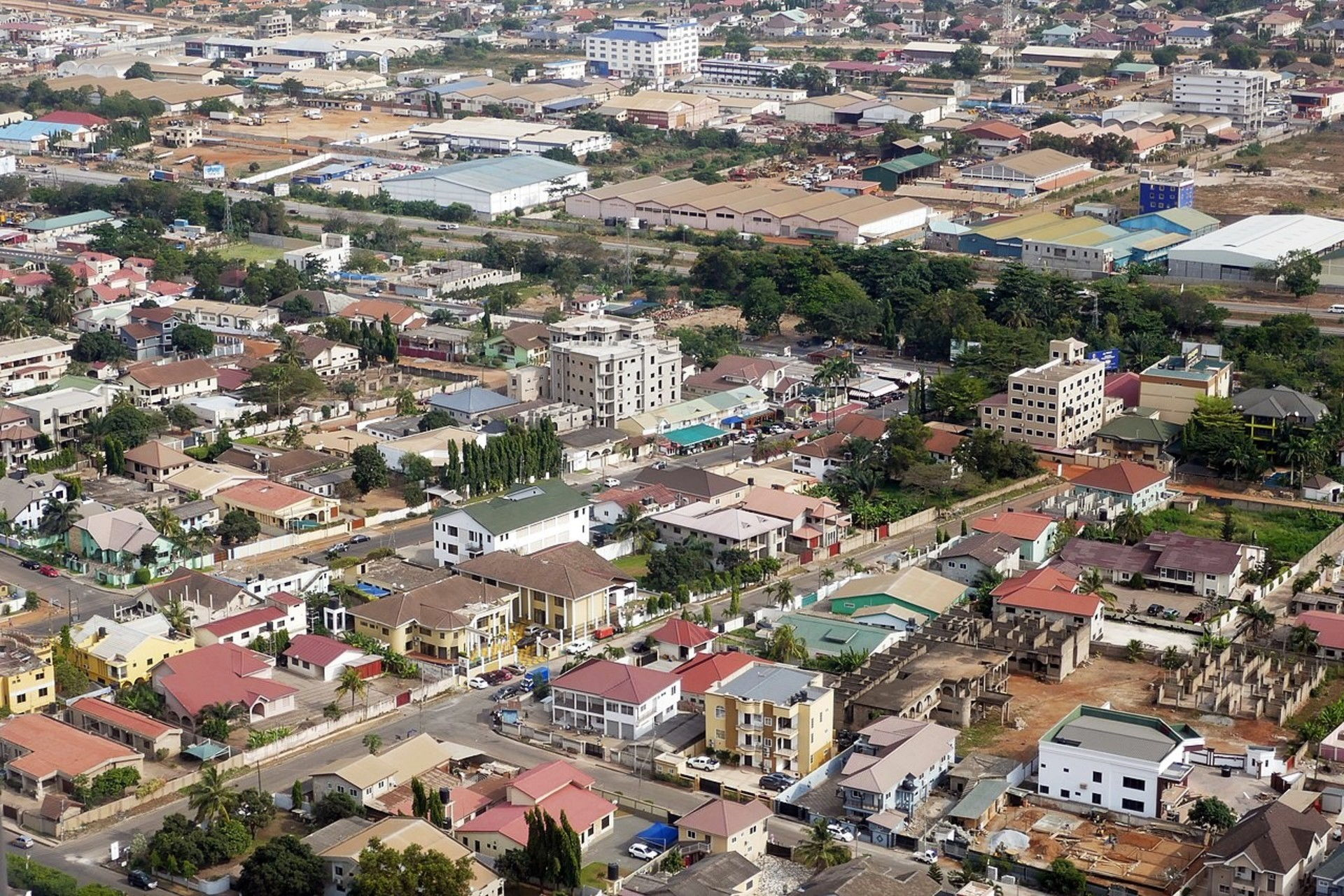 Accra from the air