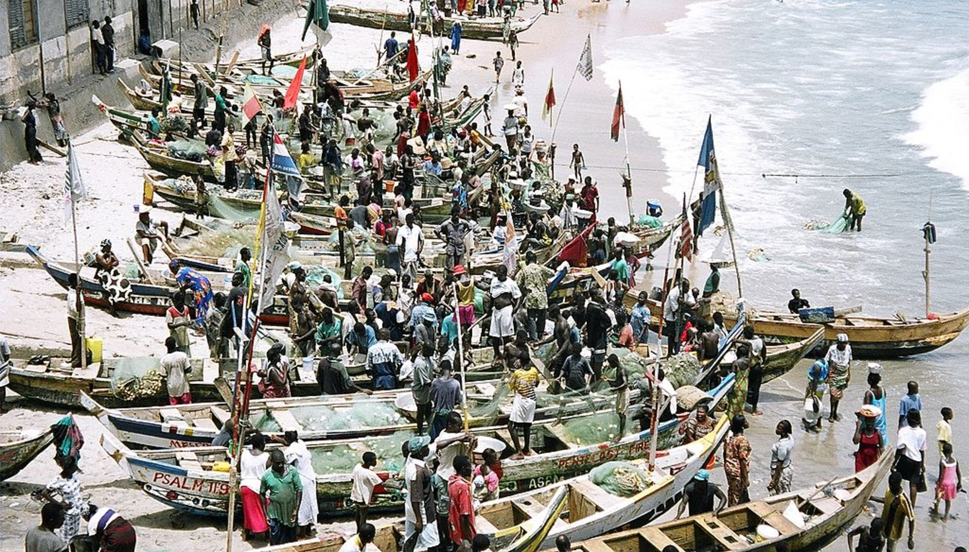 Fishing boats Cape Coast Ghana