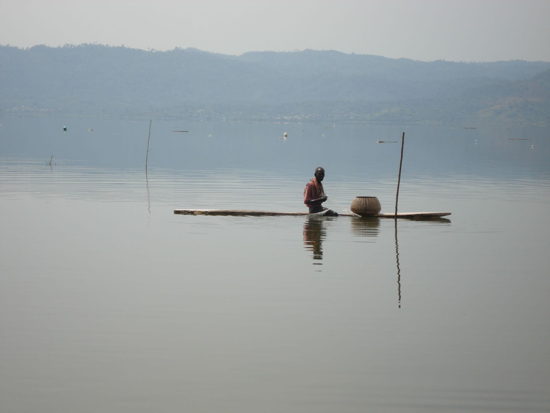 Fisher on Lake BosUmtwe