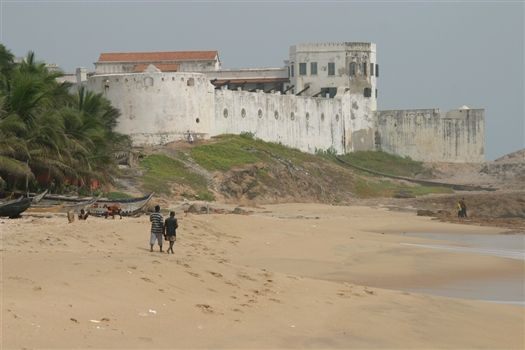 Cape Coast Castle see from the beach