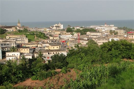 View over Town from Fort Victoria - Cape Coast - Ghana